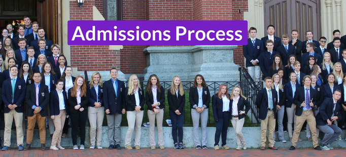 Admissions Process & Important Dates