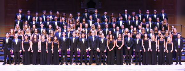 The class of 2018 on stage at Merrill Auditorium for graduation on June 4, 2018.
